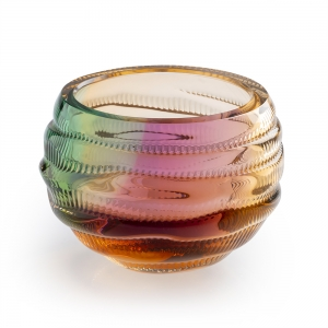 Leon Applebaum: 3 Color Blend Trails Bowl