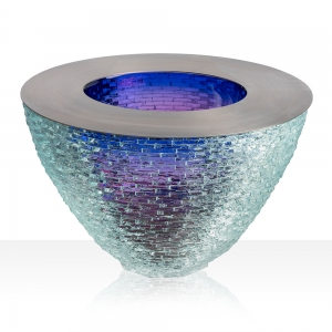 Matthew Curtis: Blue & Ruby Constructed Bowl