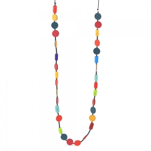 Alicia Niles: Morse Code Necklace, Multicolor