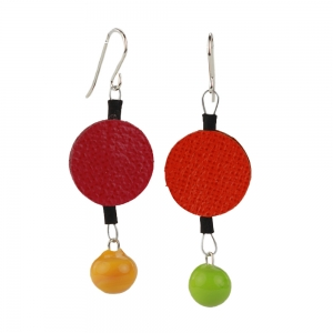 Alicia Niles: Morse Code Earrings, Multicolor