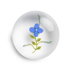 Paul J. Stankard: Forget-Me-Not Paperweight