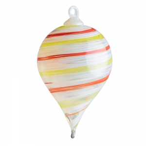 G. Brian Juk: Teardrop Ornament, Multicolor Stripe