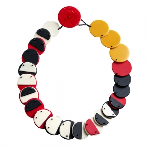 Erica Rosenfeld: Statement Necklace, Red, Black & White