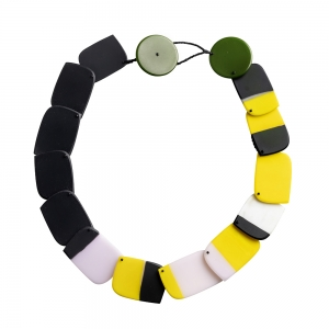 Erica Rosenfeld: Statement Necklace, Pink, Yellow & Black
