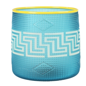 Preston Singletary: Tlingit Basket, Turquoise with Yellow Lip