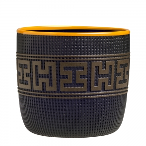 Preston Singletary: Tlingit Basket, Dark Purple with Orange Lip