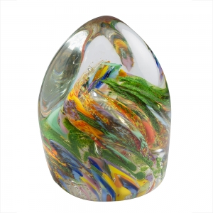 Hands on Glass: Organic Paperweight, End of Day